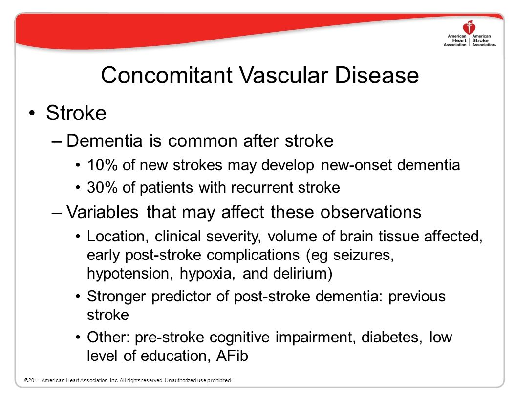 Coronary Artery Disease (CAD) –Independent risk factor for VaD –CABG is associated with poorer cognitive function and higher late-life dementia Chroni