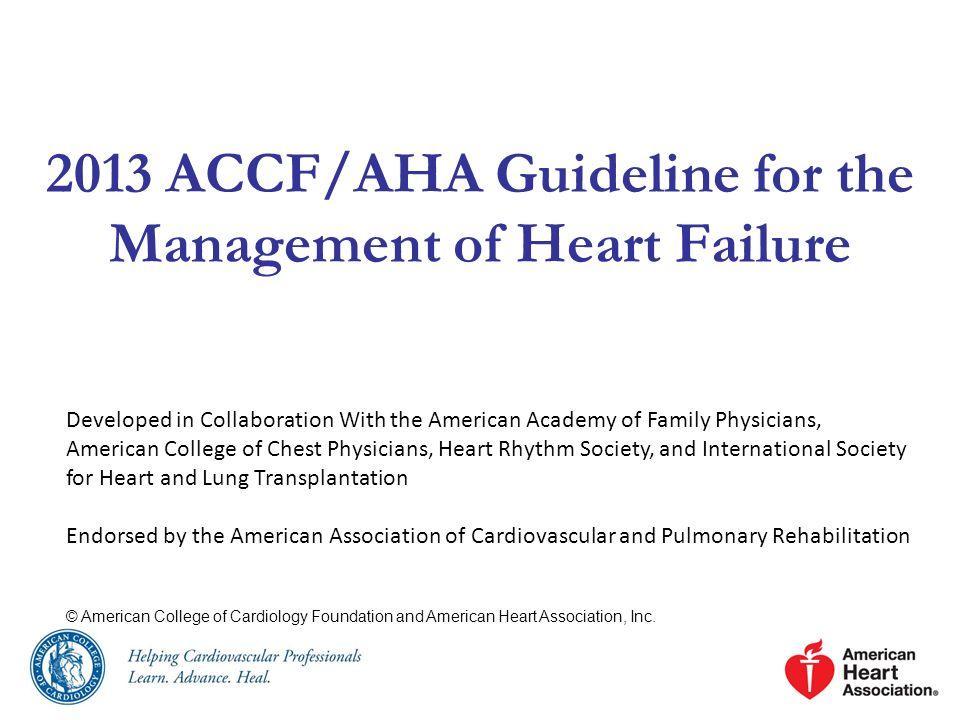 ACCF/AHA/AMA-PCPI 2011 HF Performance Measurement Set (cont.) MeasureDescription* Care Setting Level of Measurement 4.