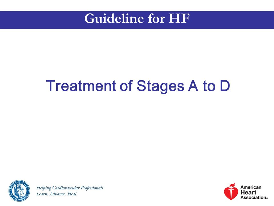Treatment of Stages A to D Guideline for HF