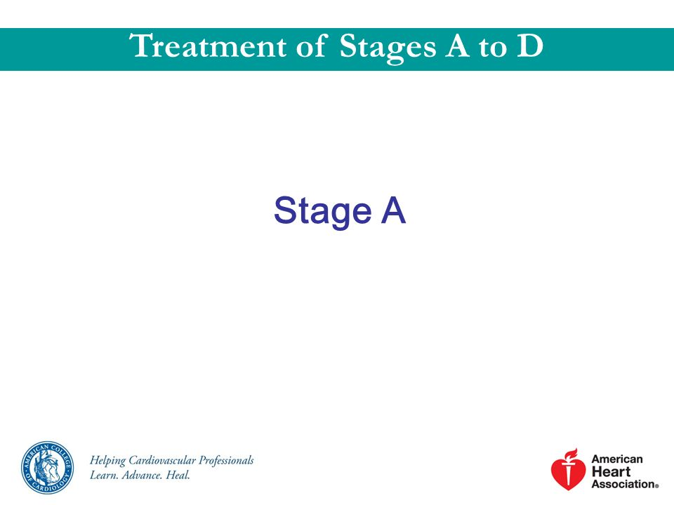 Stage A Treatment of Stages A to D