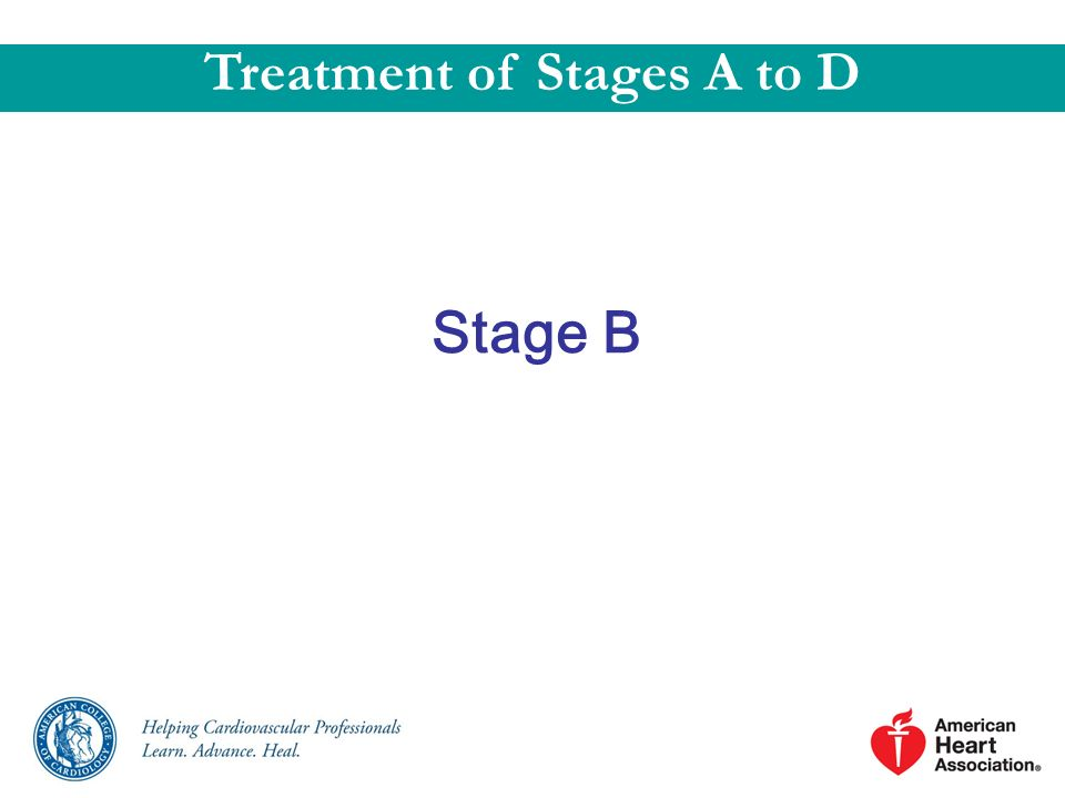 Stage B Treatment of Stages A to D