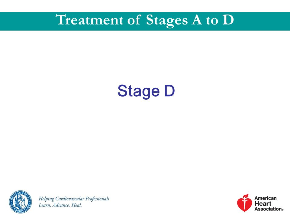 Stage D Treatment of Stages A to D