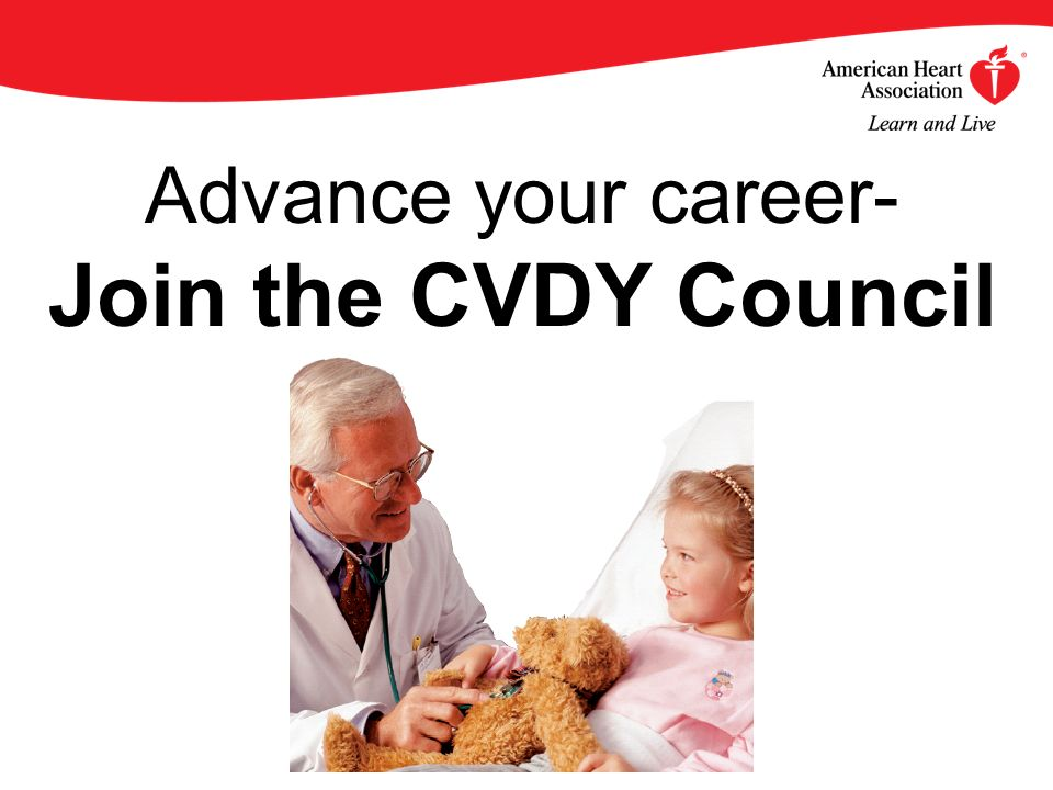 Advance your career- Join the CVDY Council