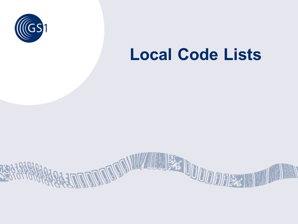 Local Code Lists