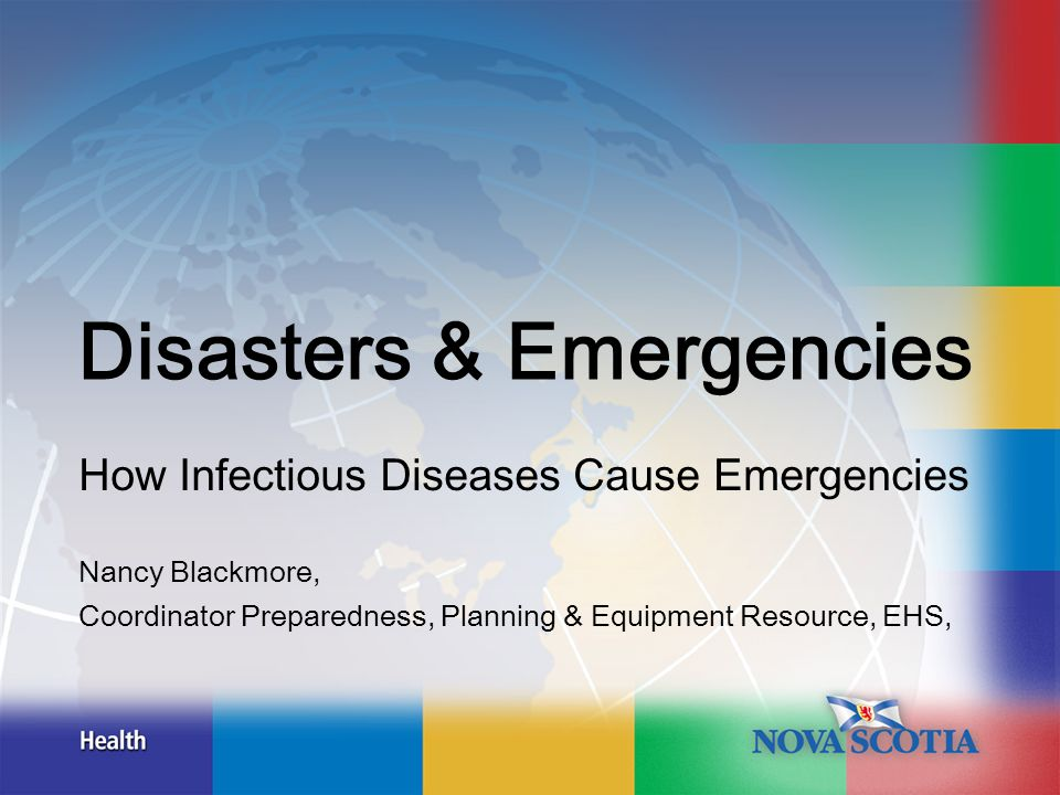Outline Infectious diseases by category Bioterrorism New & emerging Pandemic influenza Impact & planning considerations