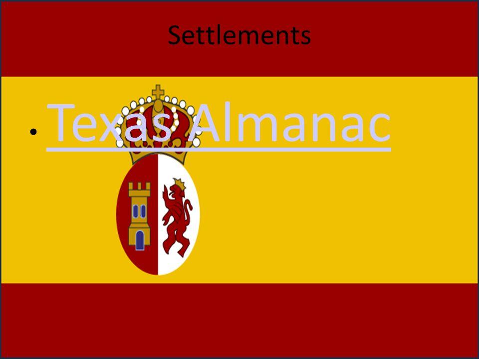 Settlements Texas Almanac