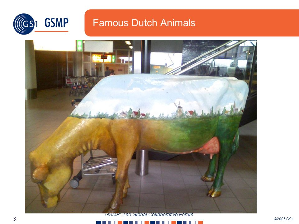 ©2005 GS1 3 GSMP: The Global Collaborative Forum Famous Dutch Animals