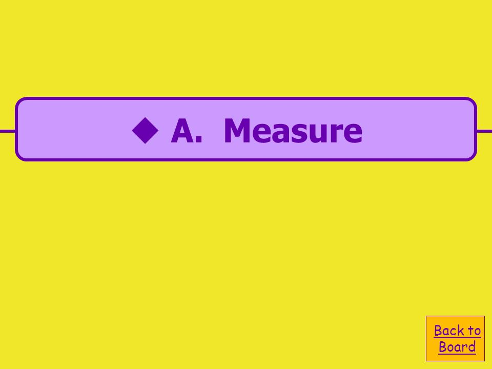 A. Measure C. Monitor B. Metric D. Maintain The M in DMAIC stands for…