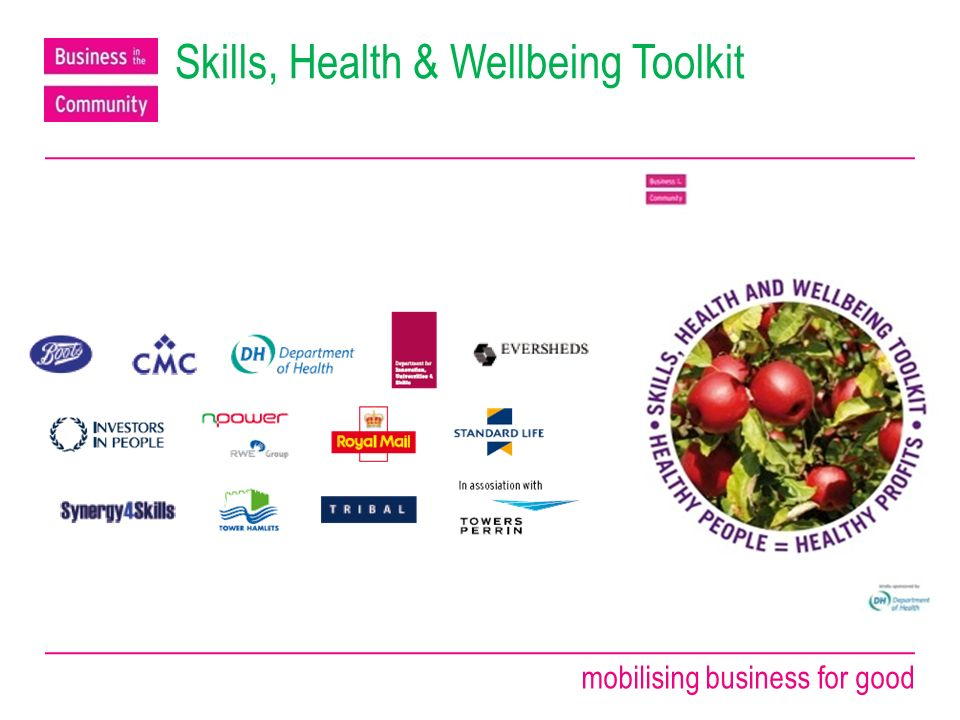 mobilising business for good Skills, Health & Wellbeing Toolkit