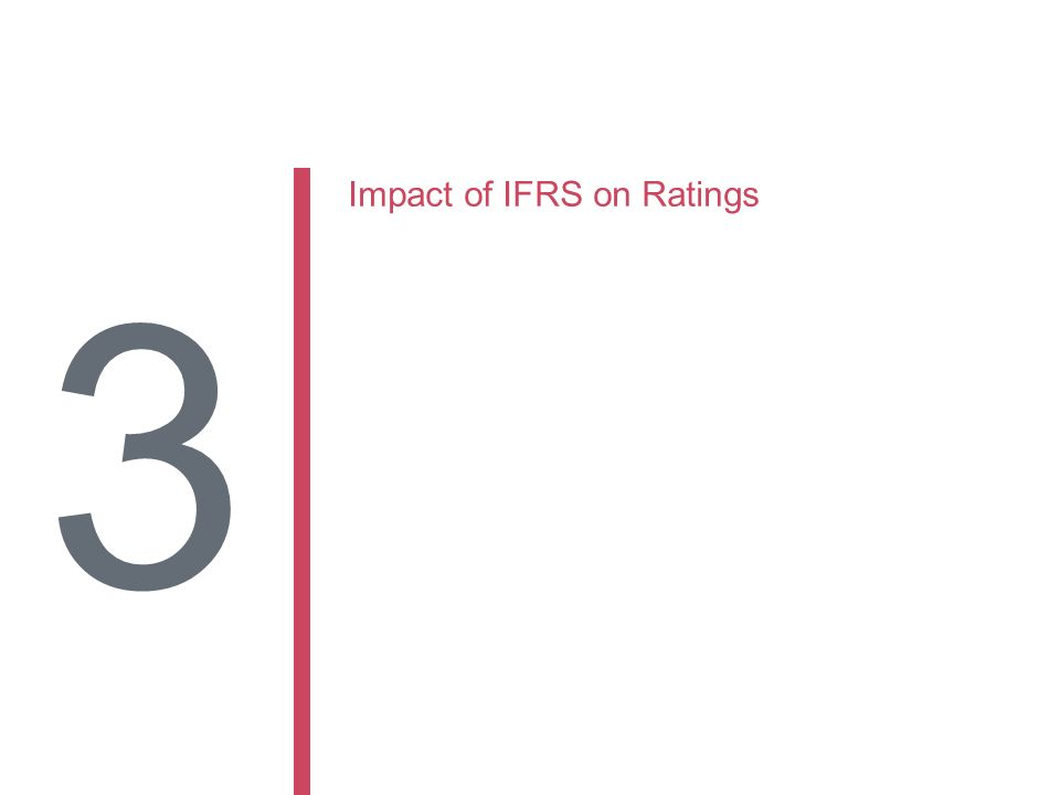 Impact of IFRS on Ratings 3