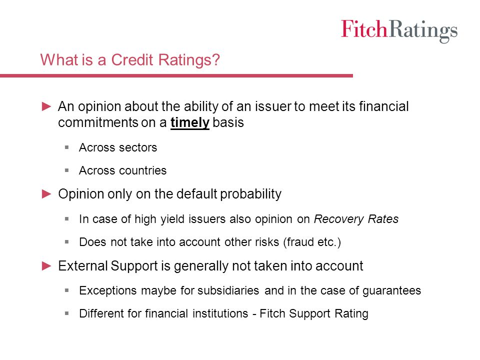 What is a Credit Ratings.