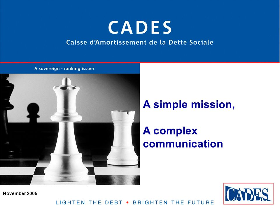 2 Introduction CADES is a public agency that was established in 1996 to amortize the French social security debt.