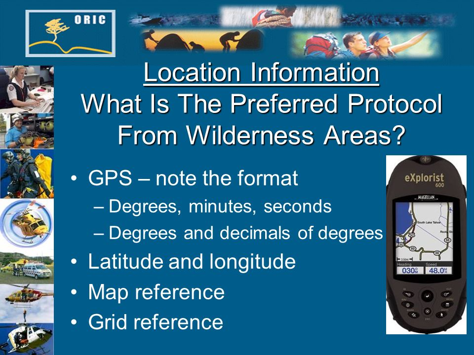 Location Information What Is The Preferred Protocol From Wilderness Areas.