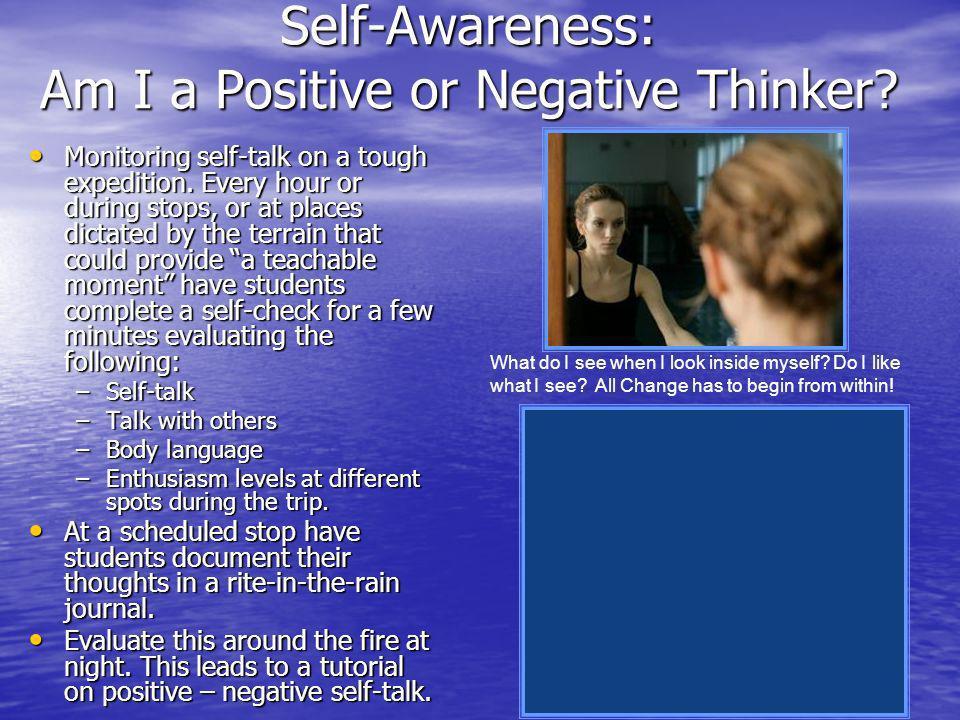 Self-Awareness: Am I a Positive or Negative Thinker.