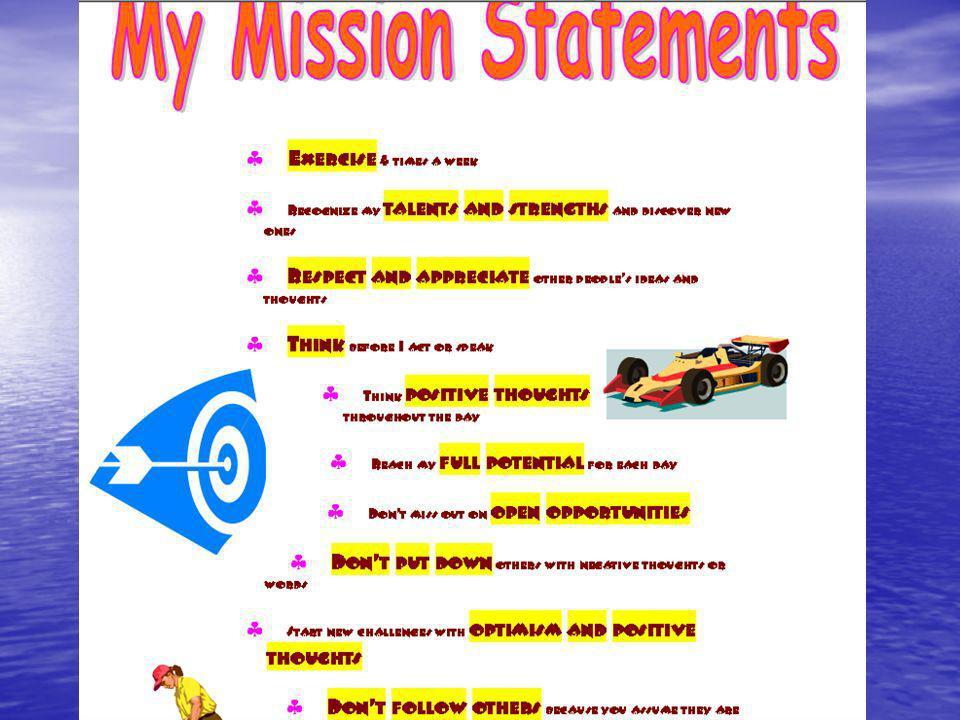 Mission Statements: Single Sentence