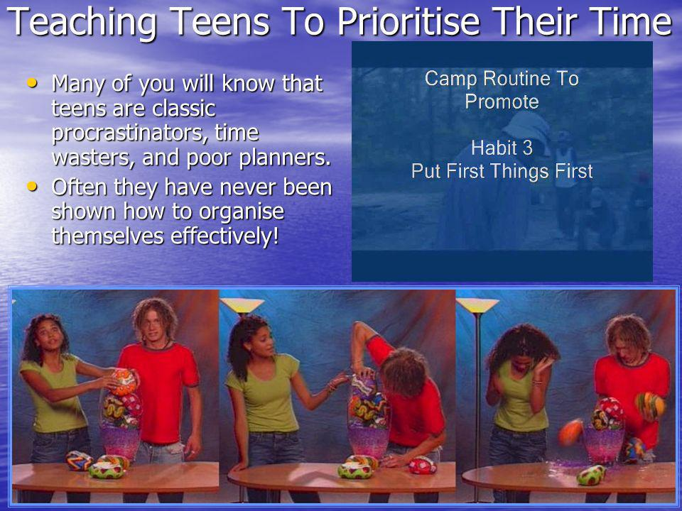 Teaching Teens To Prioritise Their Time Many of you will know that teens are classic procrastinators, time wasters, and poor planners.