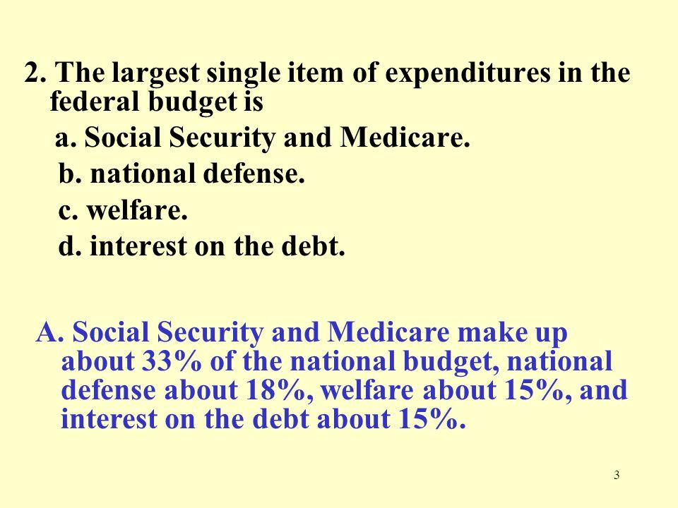34 33.The federal debt a.