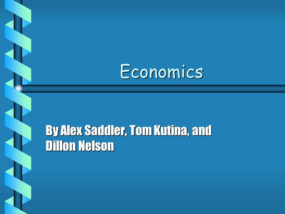 Economics b Economics is what keeps a nation on its feet.