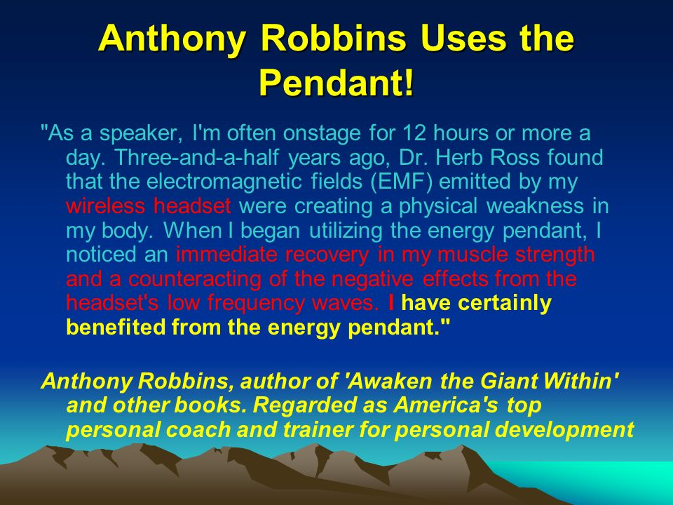 Anthony Robbins Uses the Pendant!