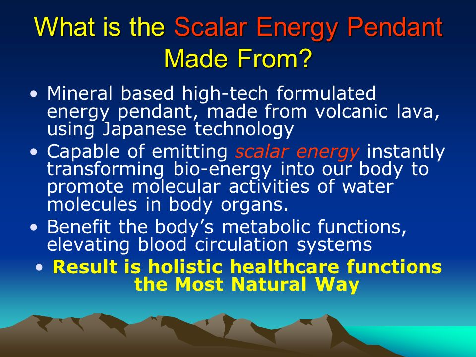 What is the Scalar Energy Pendant Made From? Mineral based high-tech formulated energy pendant, made from volcanic lava, using Japanese technology Cap