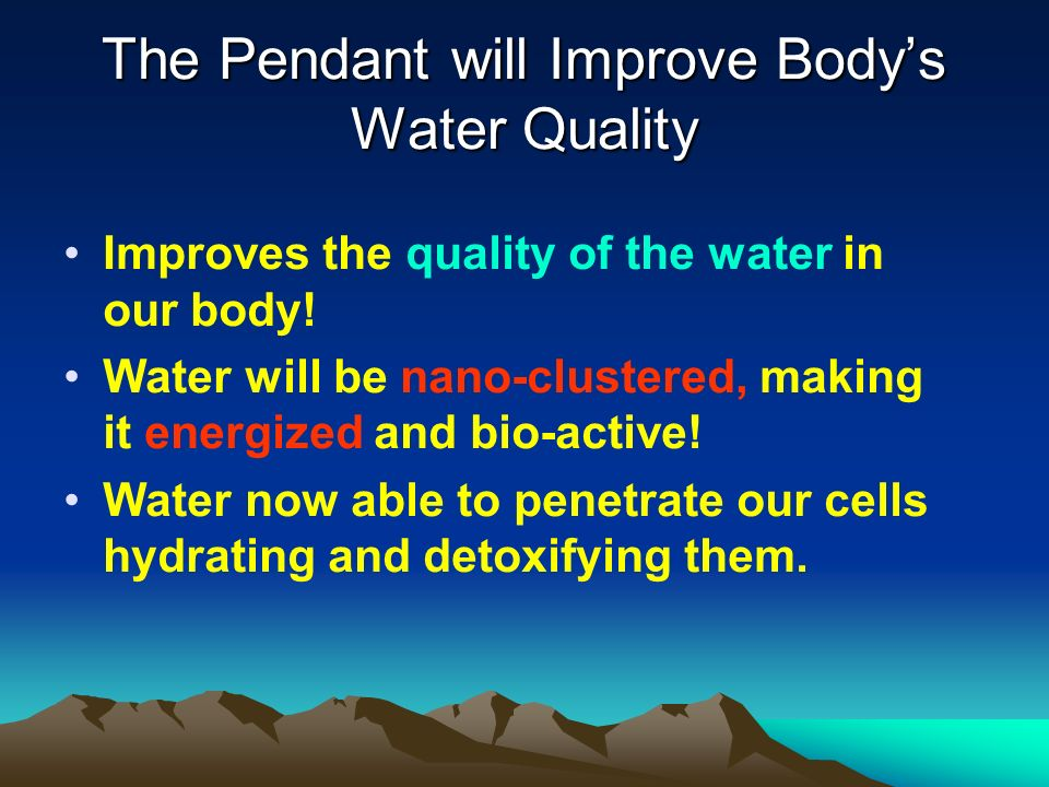 We Must Resonate with Health Your body is a complex and highly sophisticated organism.
