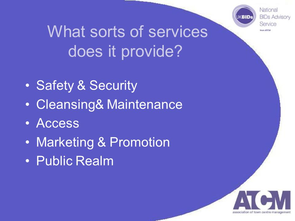 What sorts of services does it provide.