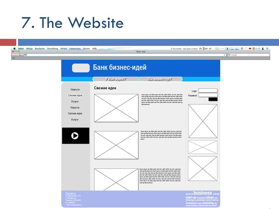 7. The Website