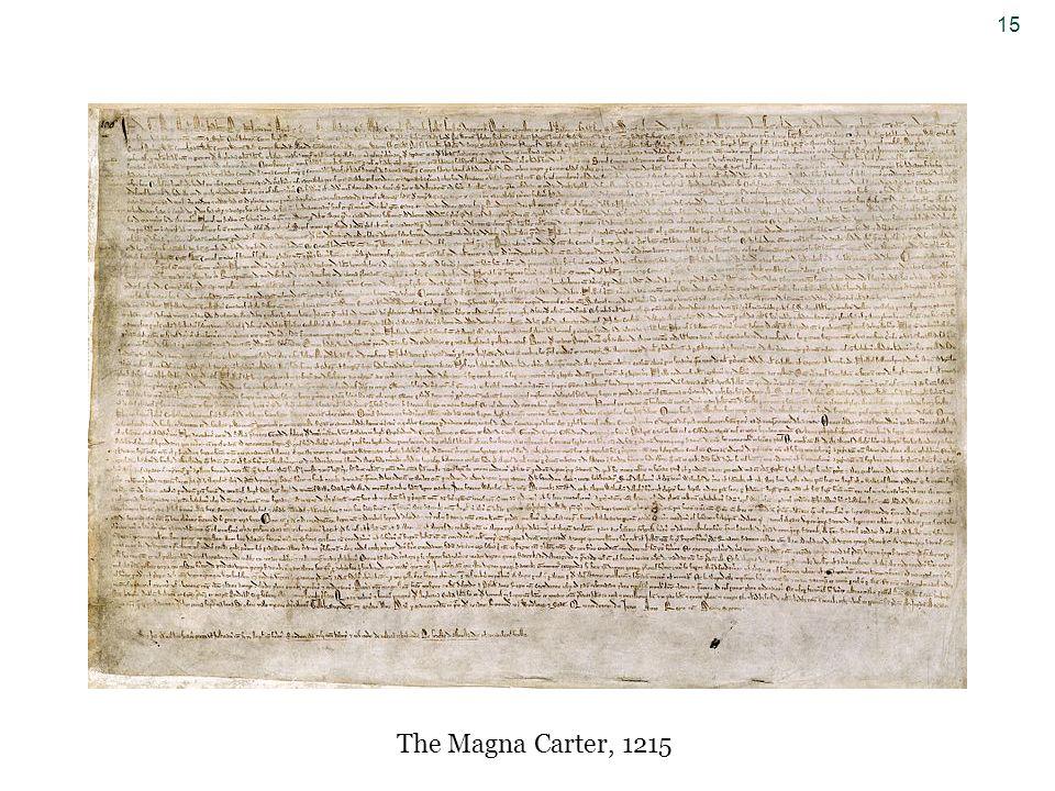 15 The Magna Carter, 1215