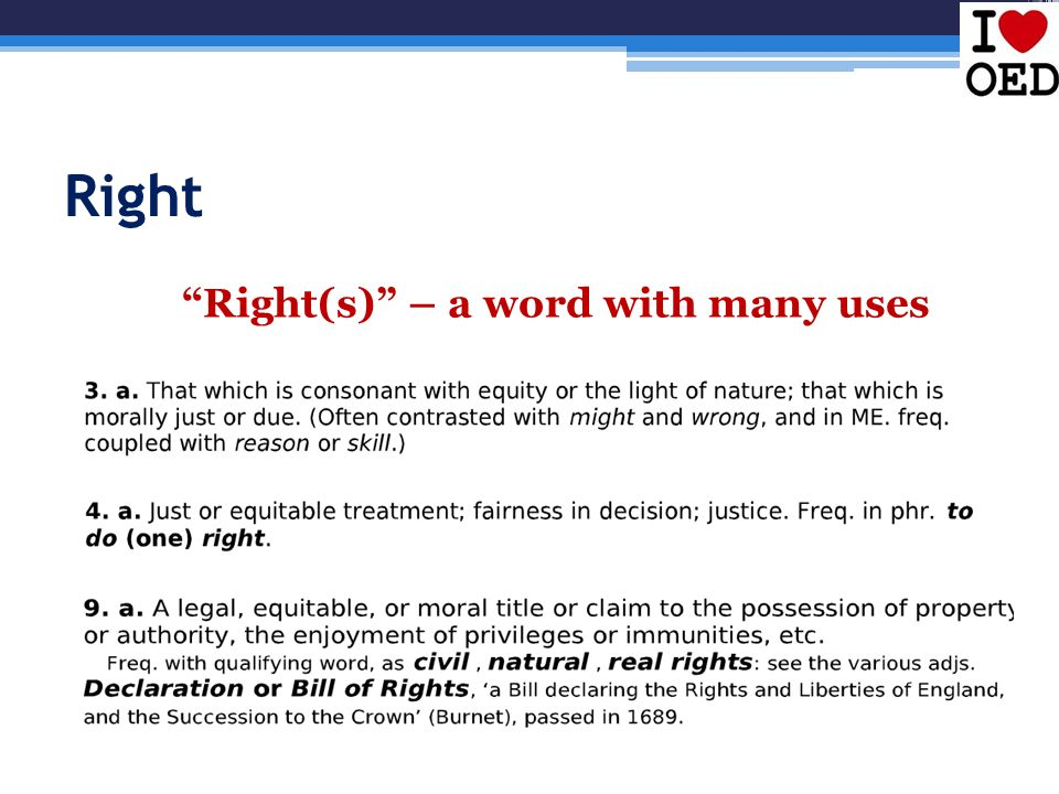 Right Right(s) – a word with many uses 9