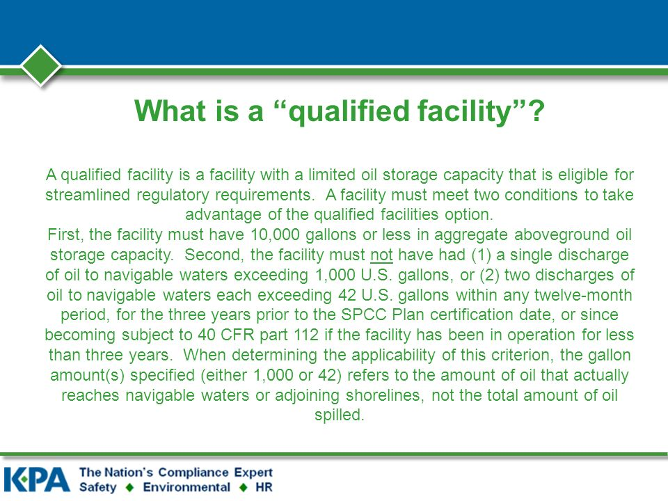 What is a qualified facility.