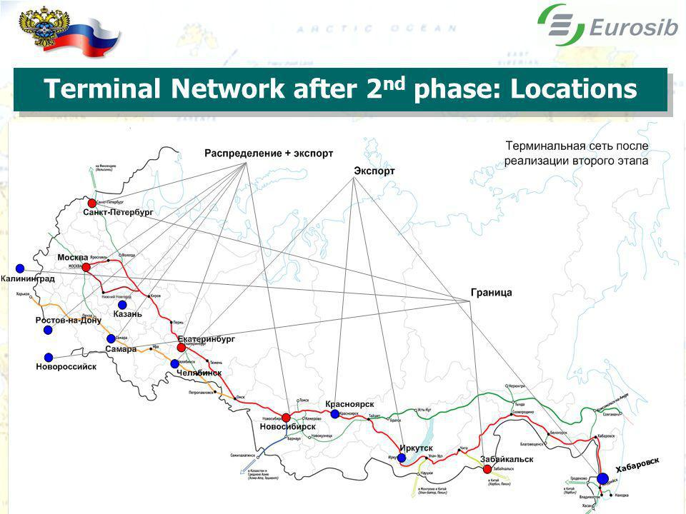Terminal Network after 2 nd phase: Locations Хабаровск