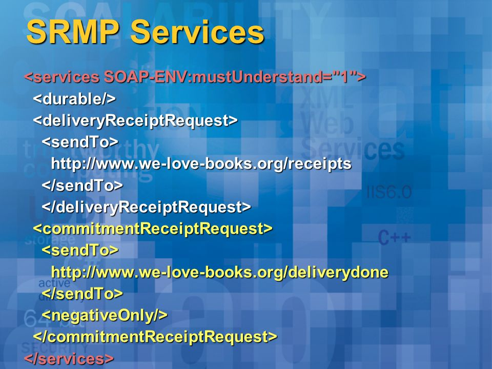 SRMP Services http://www.we-love-books.org/receipts http://www.we-love-books.org/receipts http://www.we-love-books.org/deliverydone http://www.we-love-books.org/deliverydone </services>