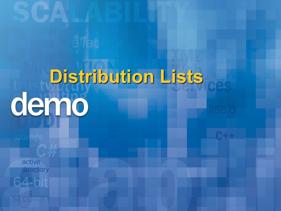 Distribution Lists