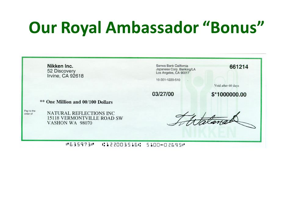 Our Royal Ambassador Bonus