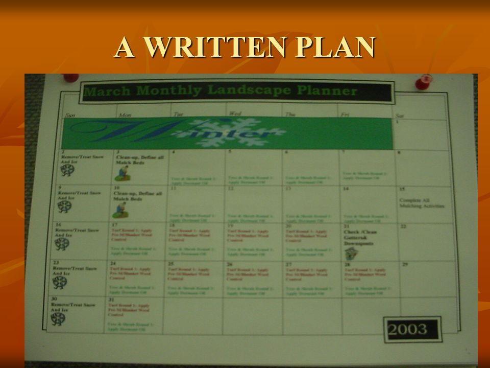 A written plan or a guide giving specific direction of what things you need to plan ahead for.