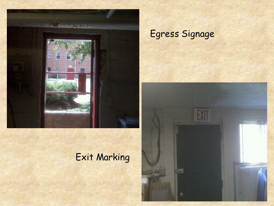 Egress Signage Exit Marking