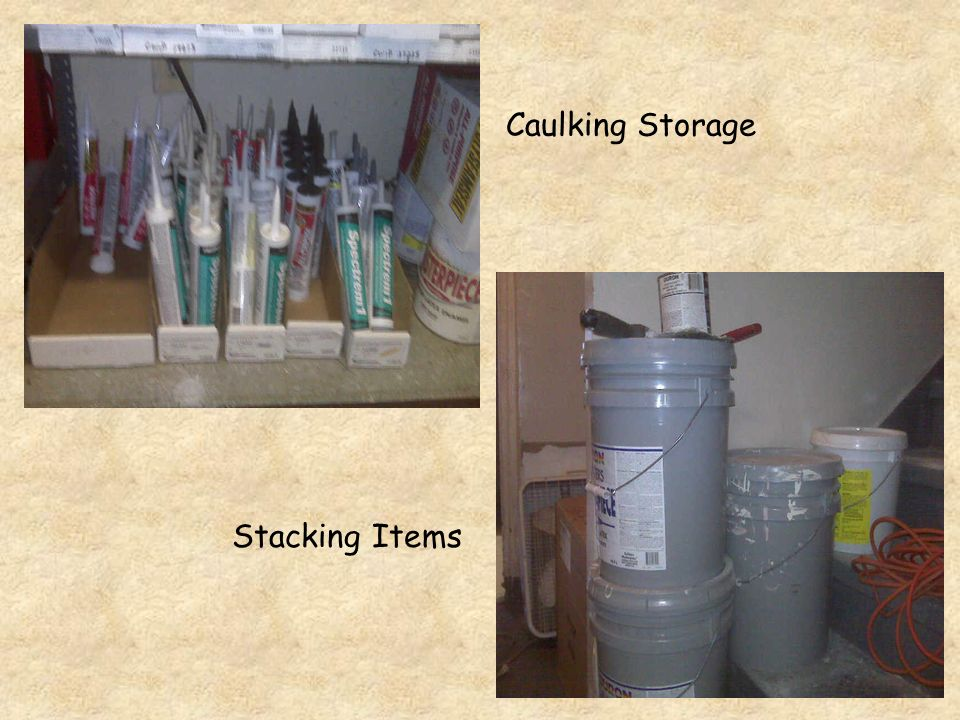 Caulking Storage Stacking Items