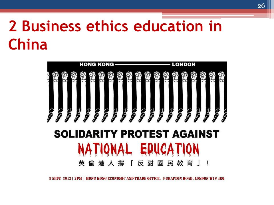 2 Business ethics education in China 26