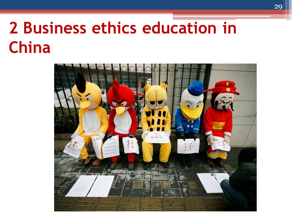 2 Business ethics education in China 29