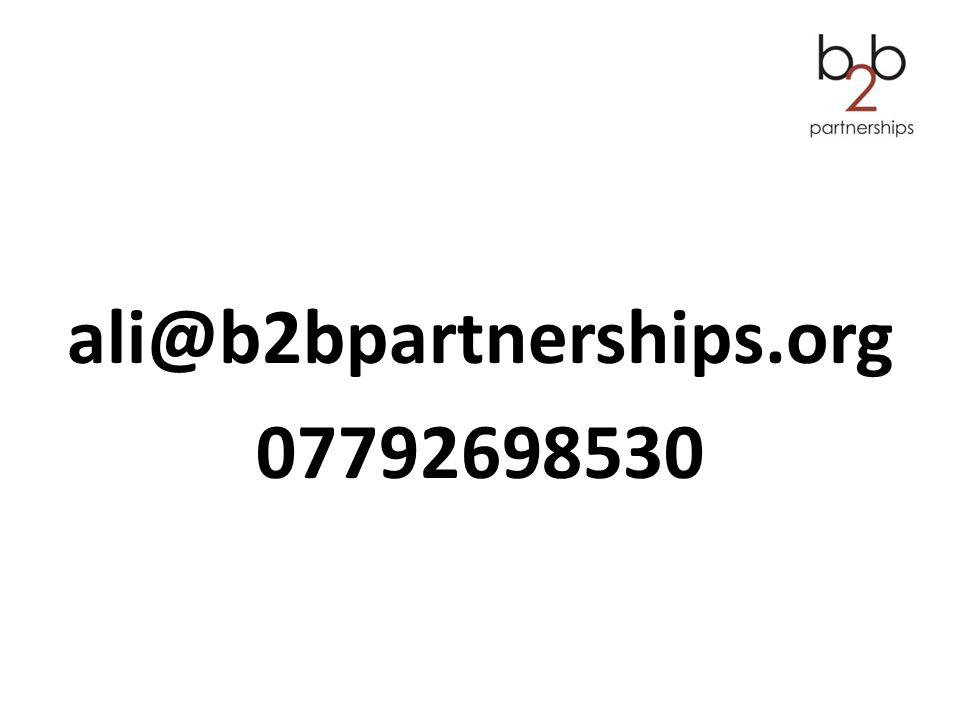 ali@b2bpartnerships.org 07792698530