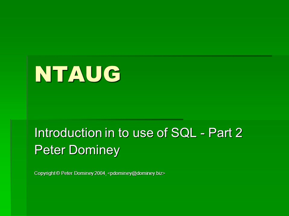 SQL Review Review