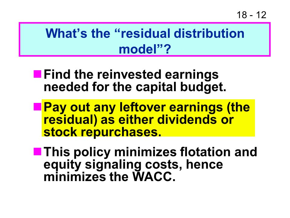 18 - 12 Whats the residual distribution model.