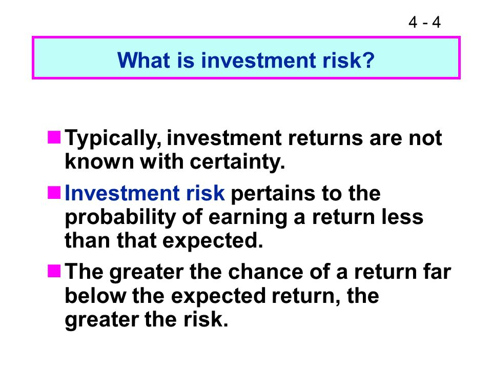 4 - 15 Expected Return versus Risk Expected Securityreturn Risk, Alta Inds.