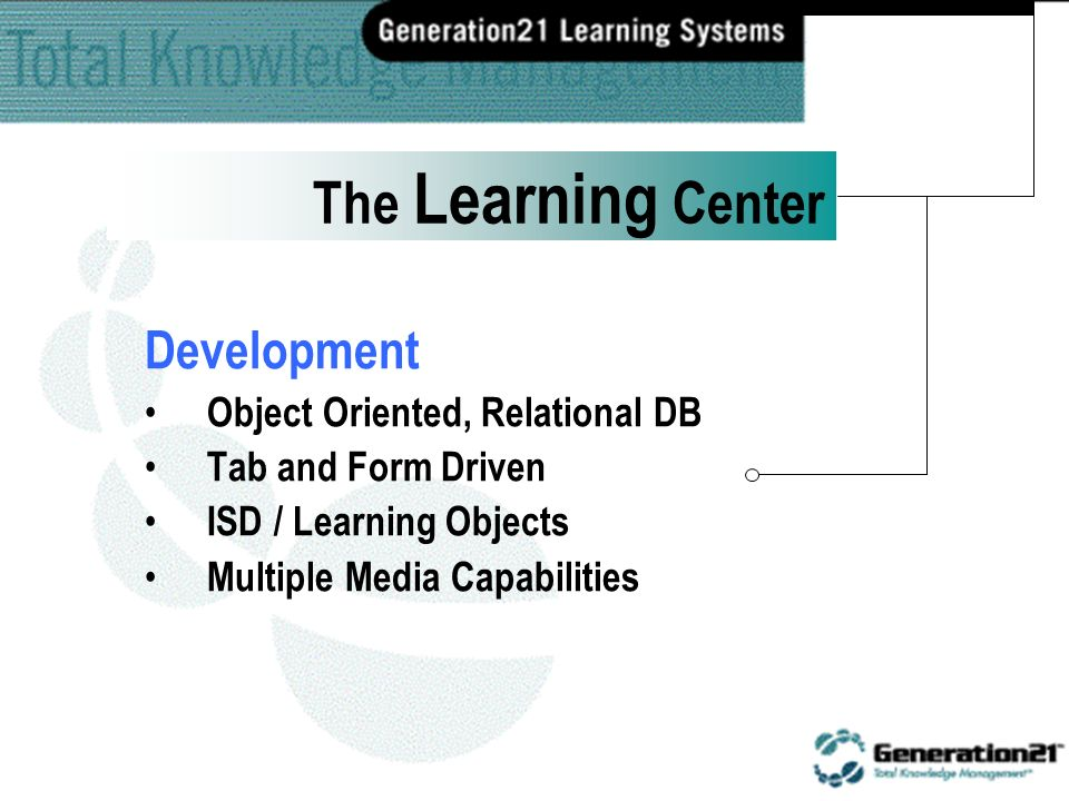 Development Publisher Distance Learning Management The Learning Center