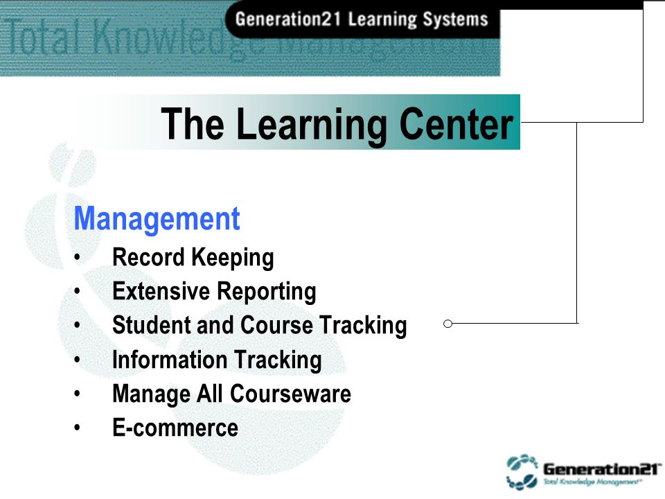 Distance Learning Inter, Intra, Extranet Pre and Post Testing Embedded Quizzes Tailored Learning Online Registration The Learning Center