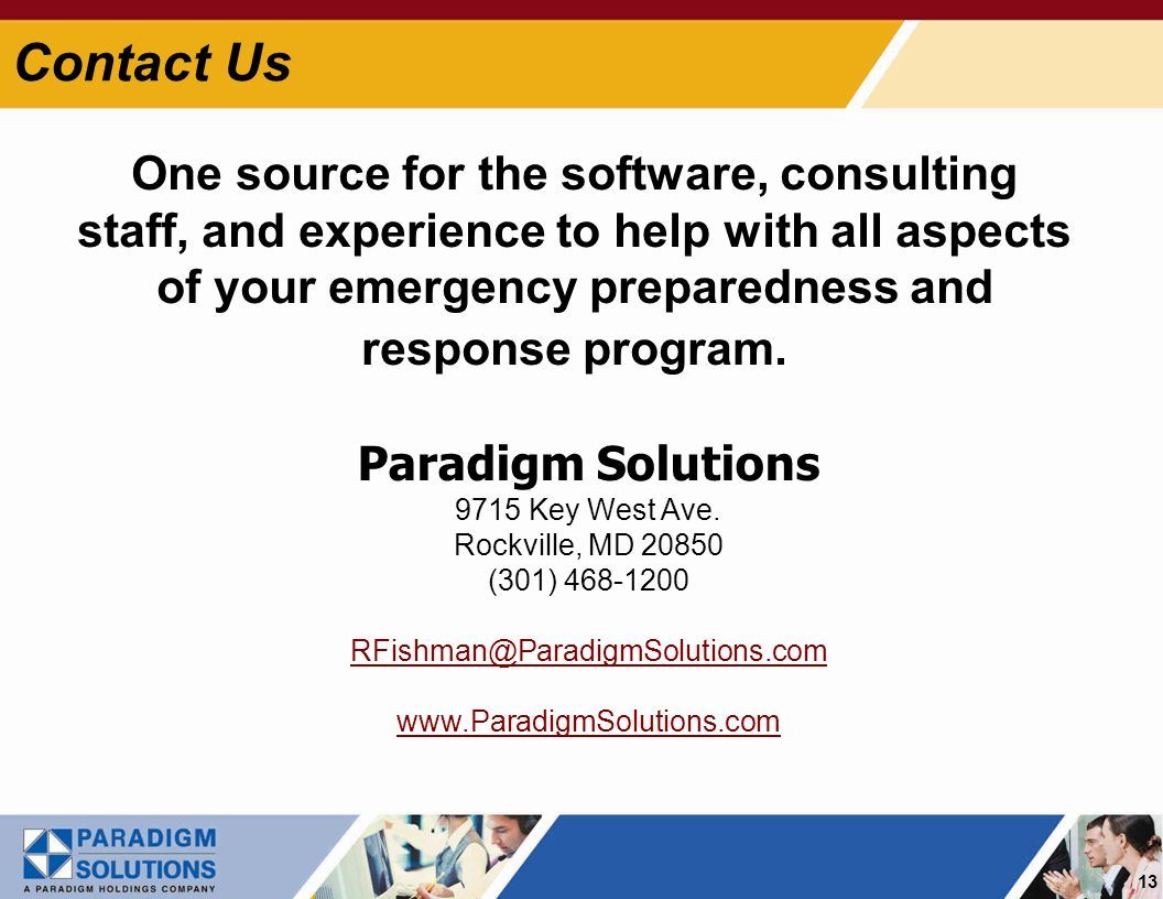 13 Paradigm Solutions 9715 Key West Ave.