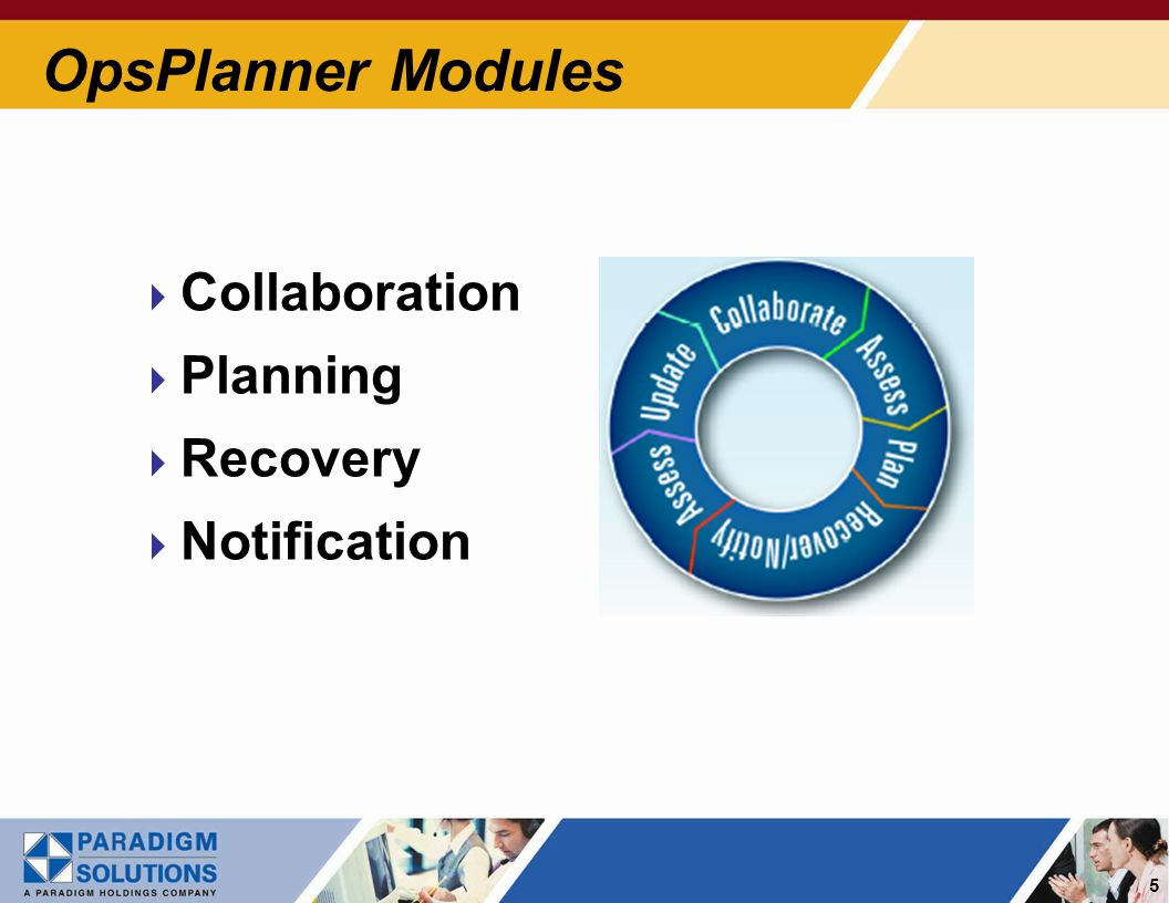 6 Collaborate Collaborate – Facilitates and provides for centralized management of planning and recovery activities Features Benefits Plan Audit Validate plan integrity Document Repository Store and access essential documents Survey Tools Centrally manage information-gathering activities Dependency Mapping Define critical infrastructure and resources and map interdependencies and impacts Announcements and Tasks Coordinate communication and program activities among all team members Continuity Road Maps Guide on emergency planning best practices