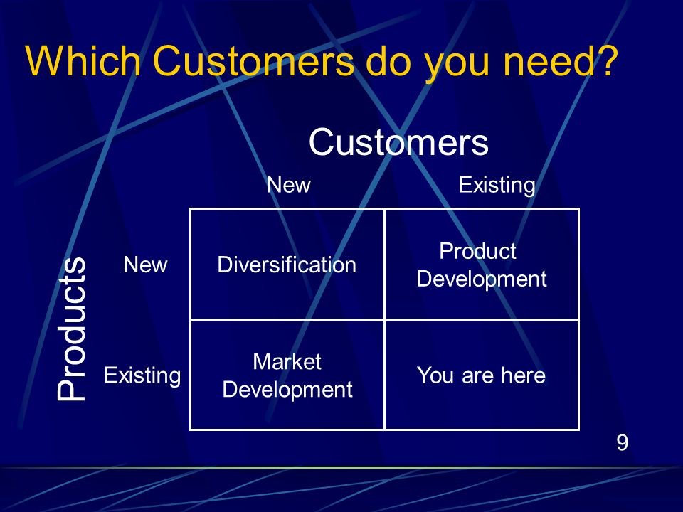 9 Which Customers do you need.