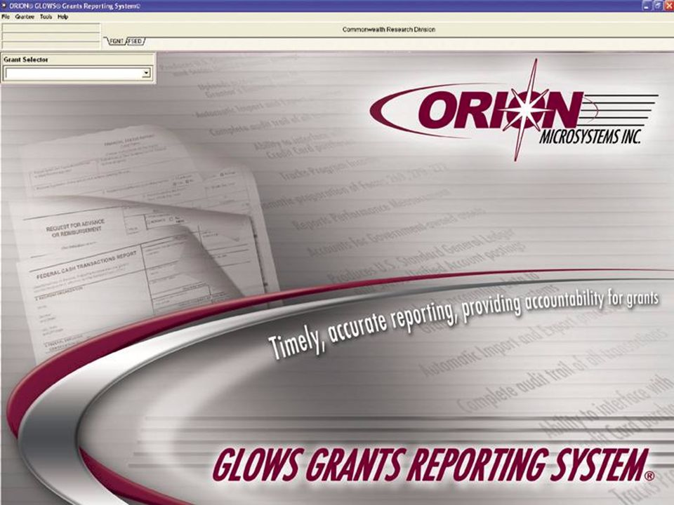 Page - 1 Orion Microsystems, Inc. Grant Reporting System 4/17/2008