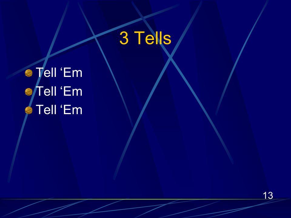 13 3 Tells Tell Em